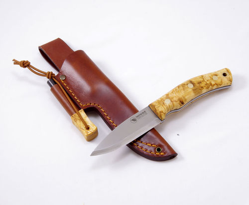 Casström No.10 SFK Curly birch/Scandi/Combo sheath/Fire Striker