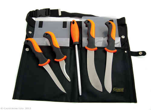 Butcher Set - 5pc orange/black