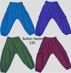 Cotton Button Harems