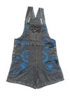Dungaree Shorts - Blue