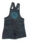 Mandala Dungaree Shorts- Blue