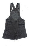 Mandala Dungaree Shorts- Grey